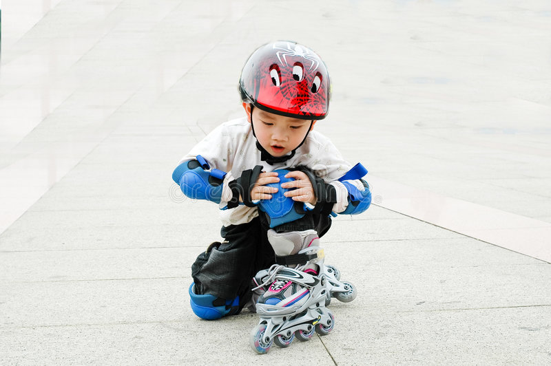 Download Chinese boy playing skate stock photo. Image of child - 4510484