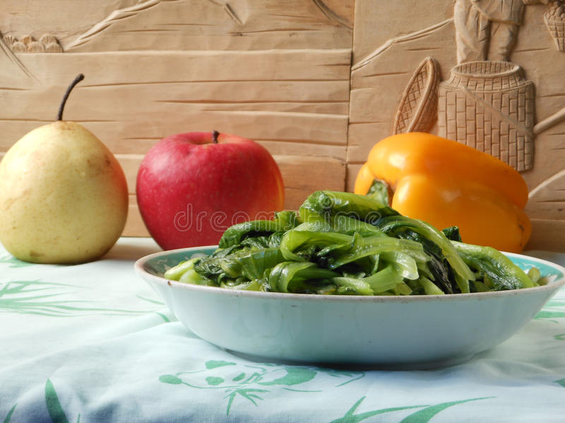 Chinese braised lettuce lunch royalty free stock images