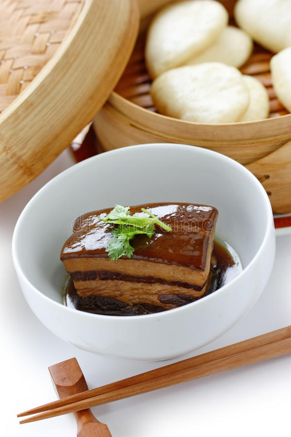 Chinese braised pork belly, dongpo pork royalty free stock photography
