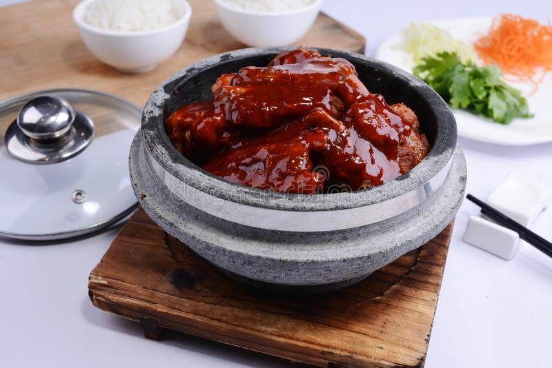 Chinese braised pork belly, dongpo pork stock photography
