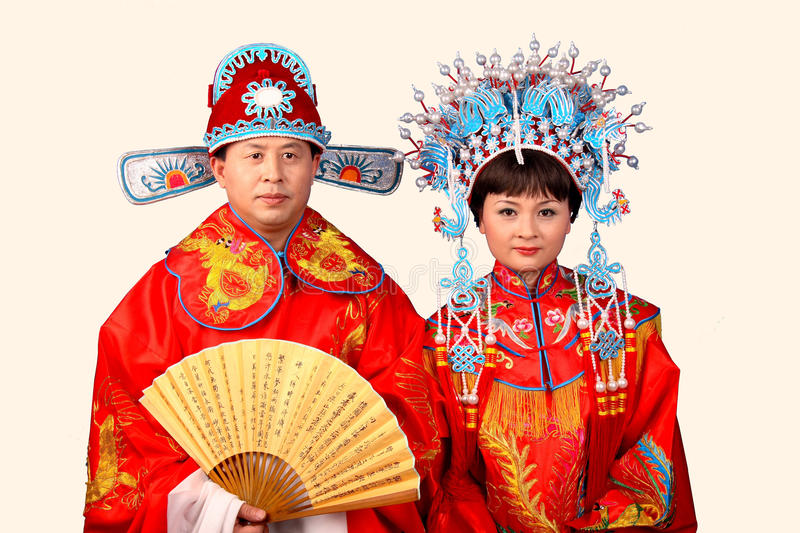 Download Chinese bride and groom stock photo. Image of culture - 18065392