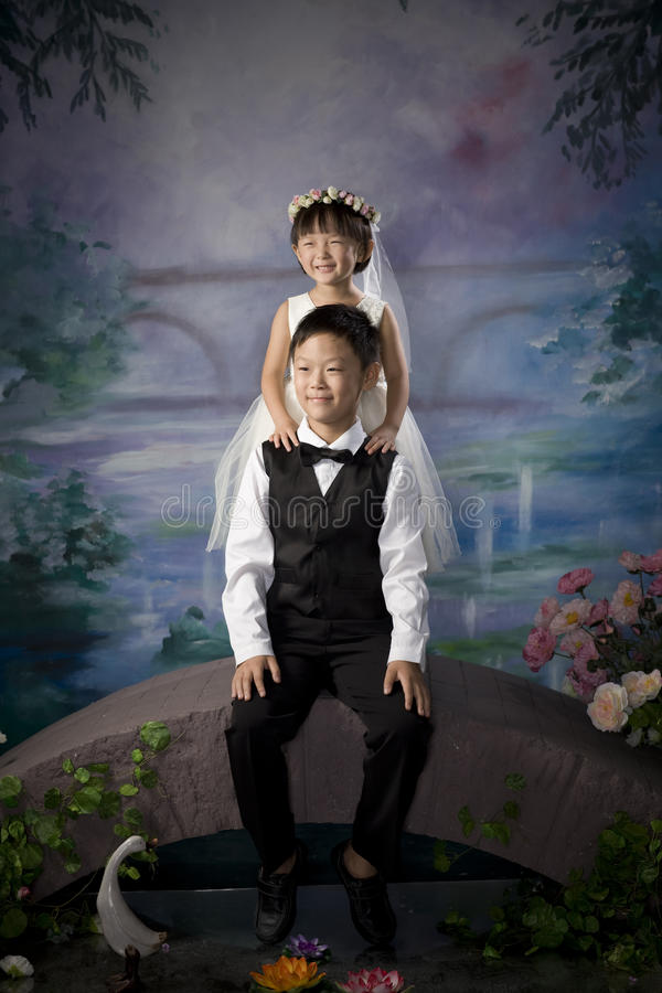 Download Chinese brother and sister stock image. Image of emotion - 11059519