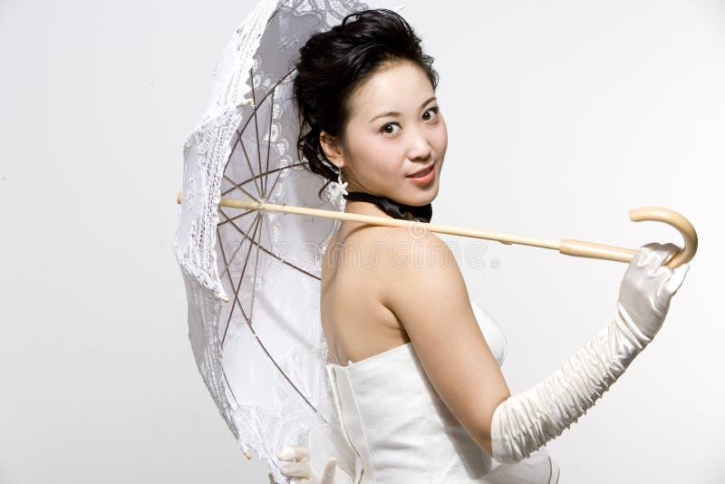 Chinese bruid royalty-vrije stock fotografie