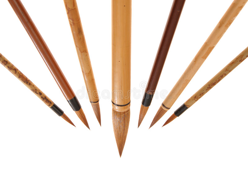 Download Chinese brushes stock image. Image of straight, trade - 6828499