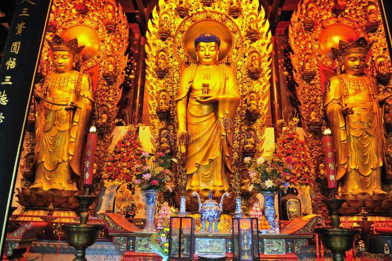 Chinese buddhist shrine stock image