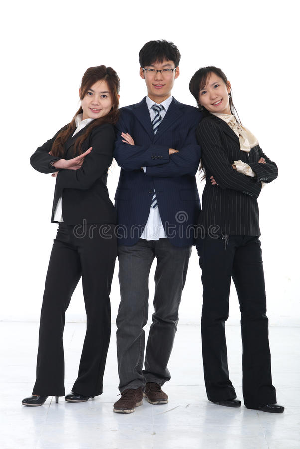 Chinese business people royalty free stock images