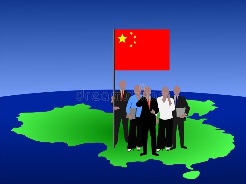 Chinese Business Team stock illustration