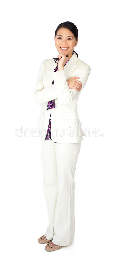 A chinese businesswoman royalty free stock photos