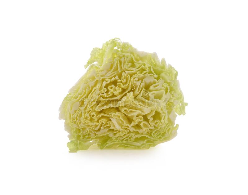 Chinese cabbage Isolated on a white background. Chinese cabbage green Isolated on a white background royalty free stock photography