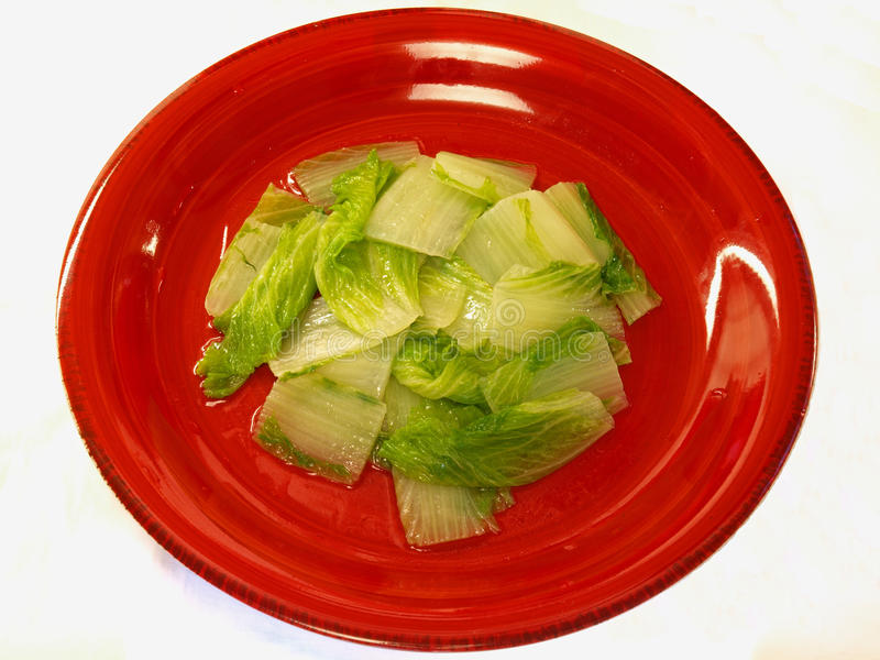 Chinese cabbage stir-fry. This is a chinese style homemade meal Chinese cabbage stir-fry stock photography