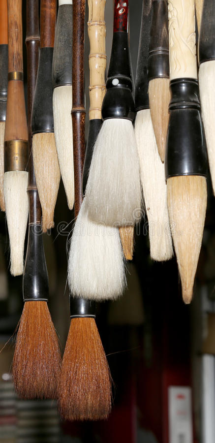 Chinese calligraphie brushes, Xian (Sian, Xi'an), Shaanxi province, China.  stock photos