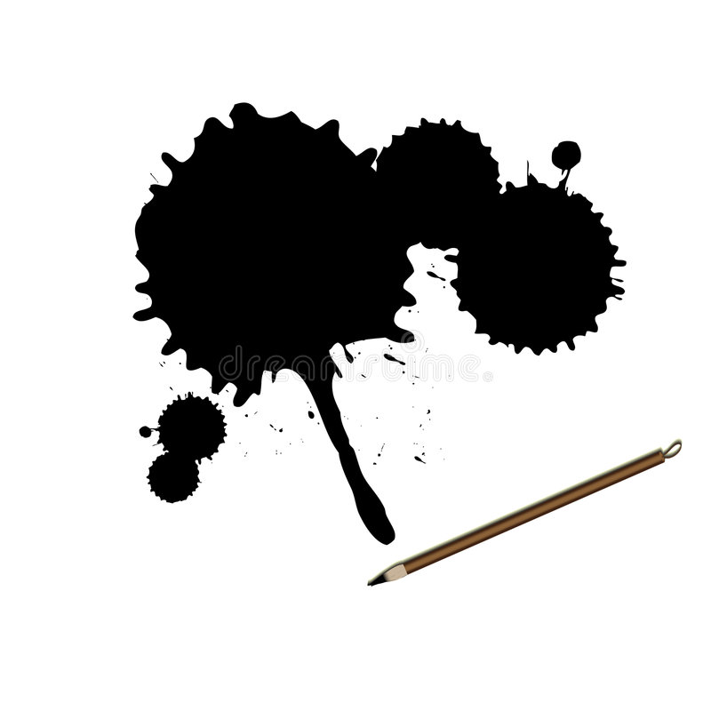 Download Chinese Calligraphy Ink Brush With Splatter Stock Vector - Image: 8535697