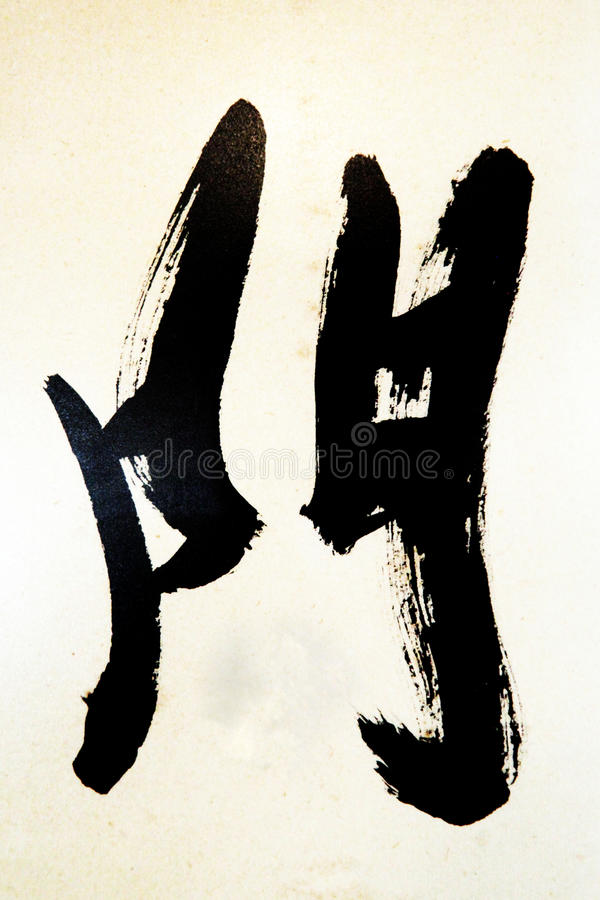 Chinese calligraphy vector illustration