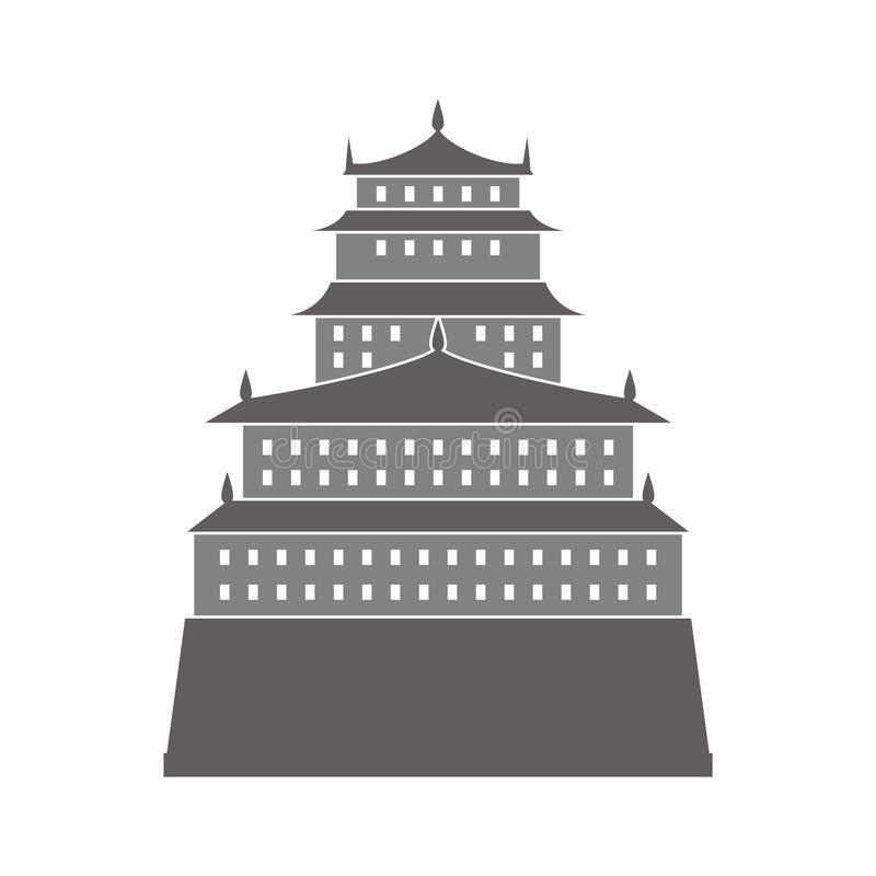 Download Chinese Castle Illustration Stock Illustration - Illustration of flag, image: 11794047
