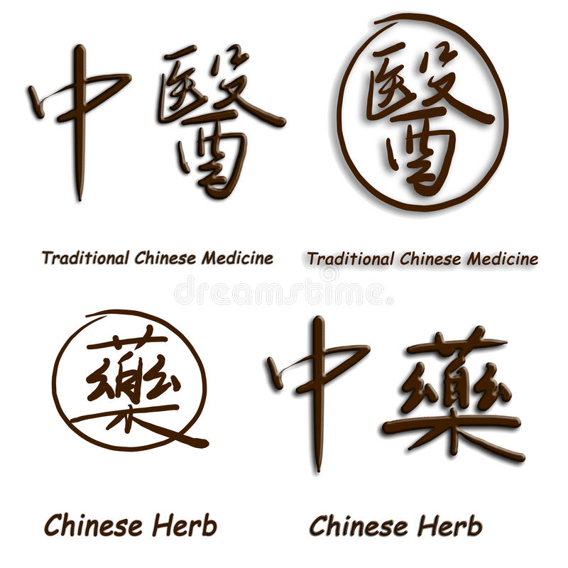 Chinese characters of Troditional Chinese Medicine royalty free stock photography
