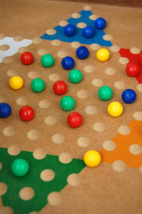Chinese Checkers Board Game Fun royalty free stock photography