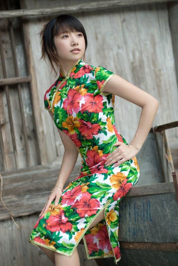 Free Chinese Cheongsam Model Stock Photo - 13181970