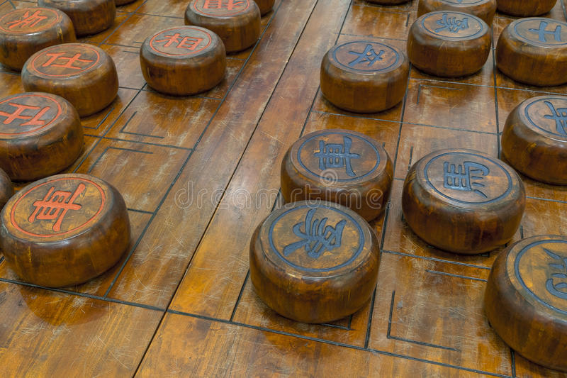 Chinese chess game royalty free stock photography