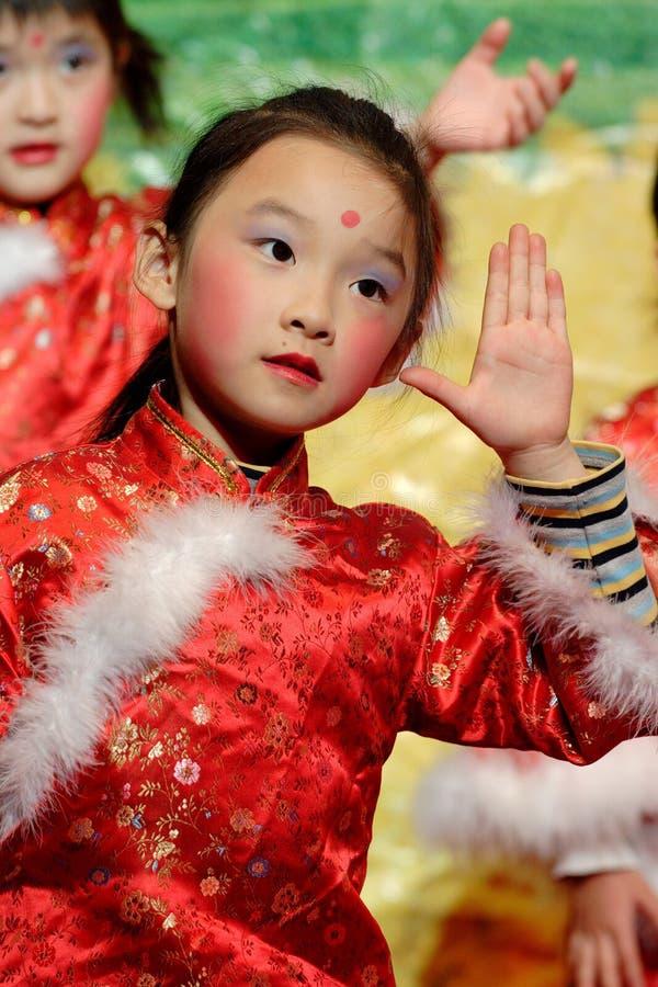 chinese children dancing stock photos