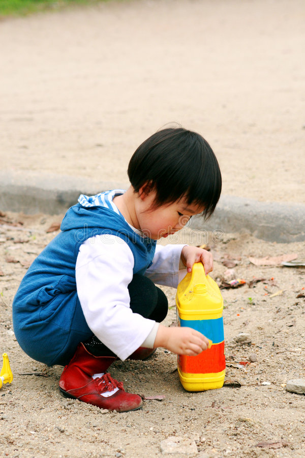 Chinese children playing. royalty free stock photos