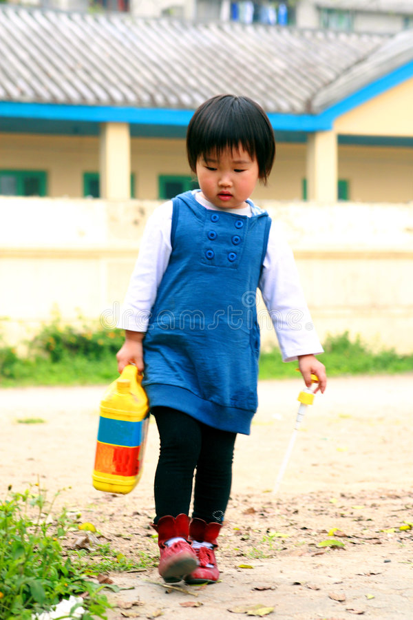 Chinese Children Playing. Royalty Free Stock Images