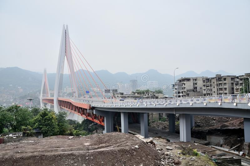 Chinese Chongqing. Asia Chongqing city landscape river near China details stock photography