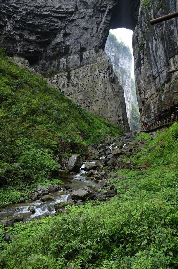 Chinese Chongqing. Asian China Chongqing scenic area in Wulong, doline wonders royalty free stock image
