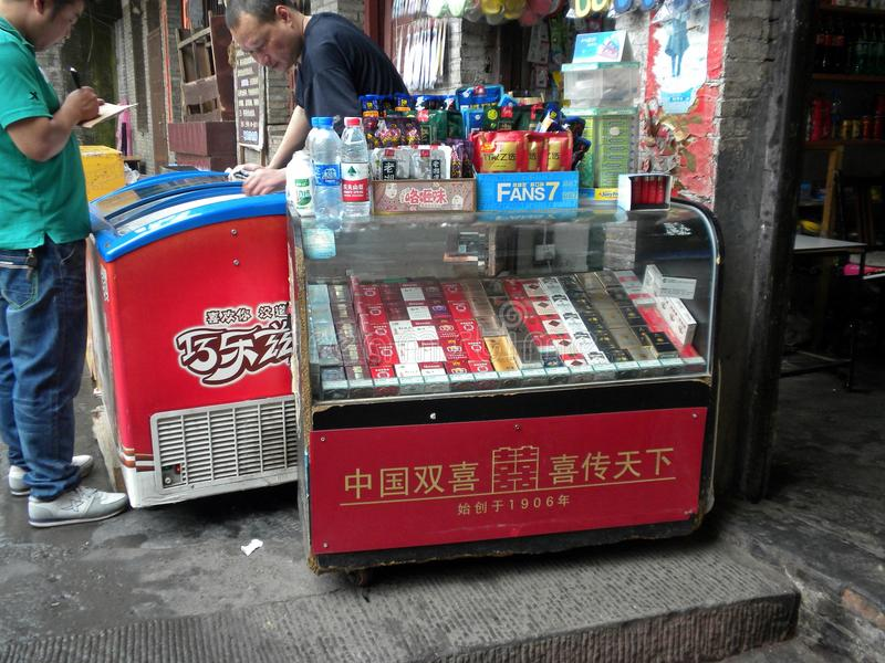 Chinese cigarettes royalty free stock photo