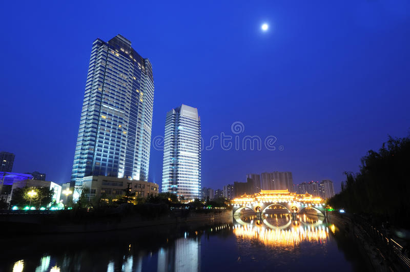 Chinese city Chengdu royalty free stock images