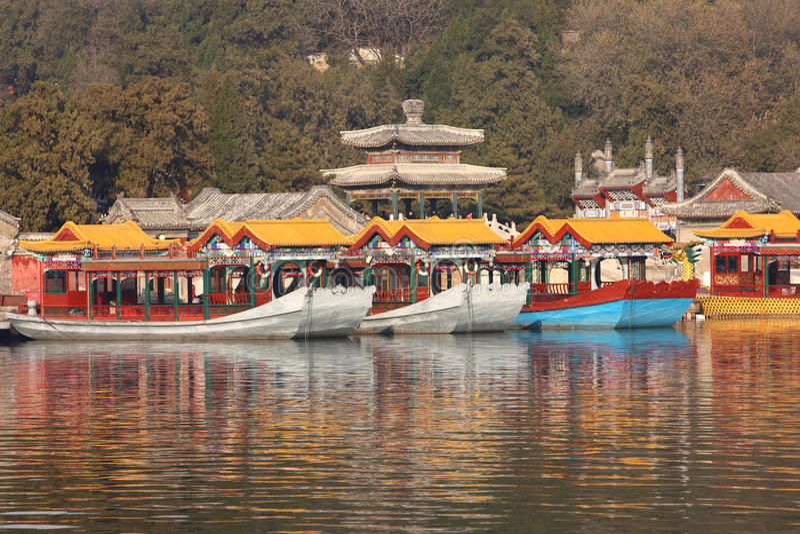 Chinese classic boat stock photo