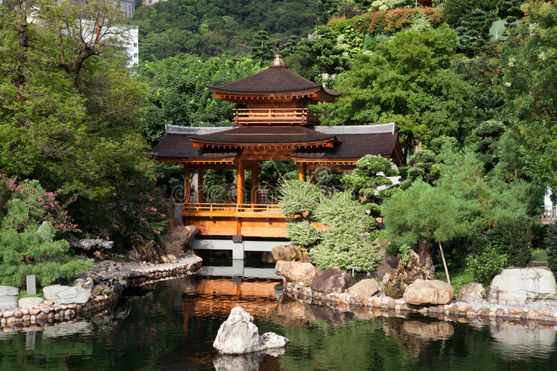Chinese Classical Garden. In Diamond Hill, Kowloon, Hong Kong royalty free stock photos