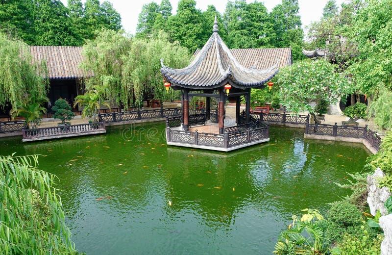 Landscaping Gazebo Chinese Garden Stock Photo Image of landscaping