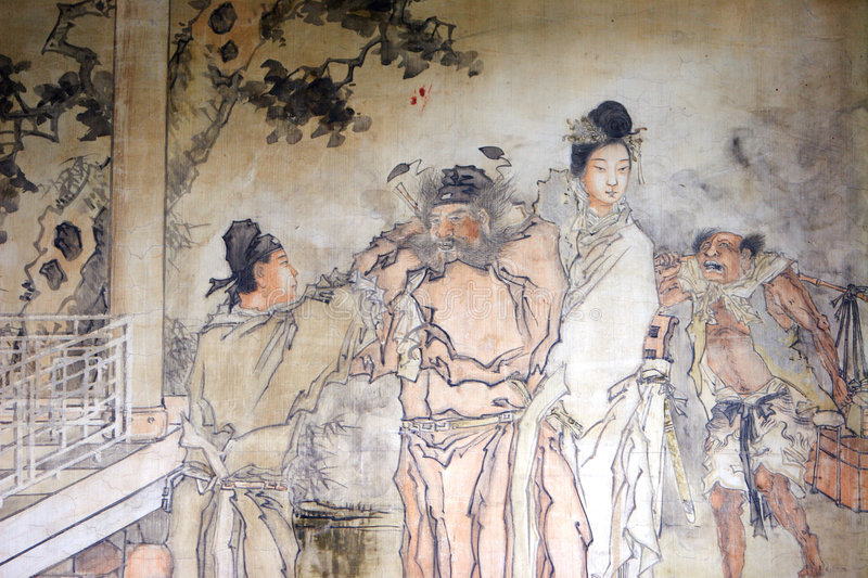 Chinese classical painting royalty free illustration
