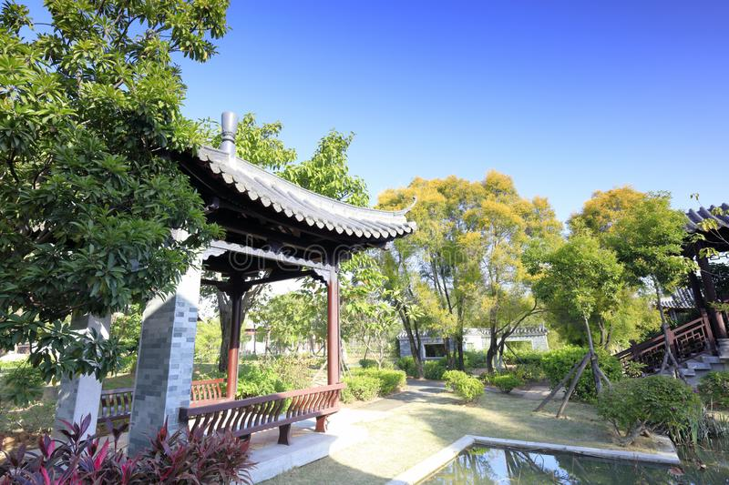 Chinese classical pavilion in yuanboyuan park, adobe rgb. Chinese classical pavilion in the yuanboyuan park, xiamen city, fujian province, china royalty free stock photo
