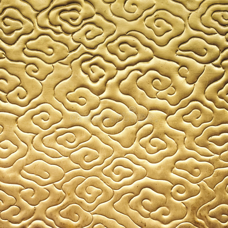 Chinese cloud pattern Gold color texture. Decoration stock photos