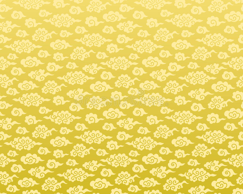 Chinese cloud seamless background. royalty free illustration