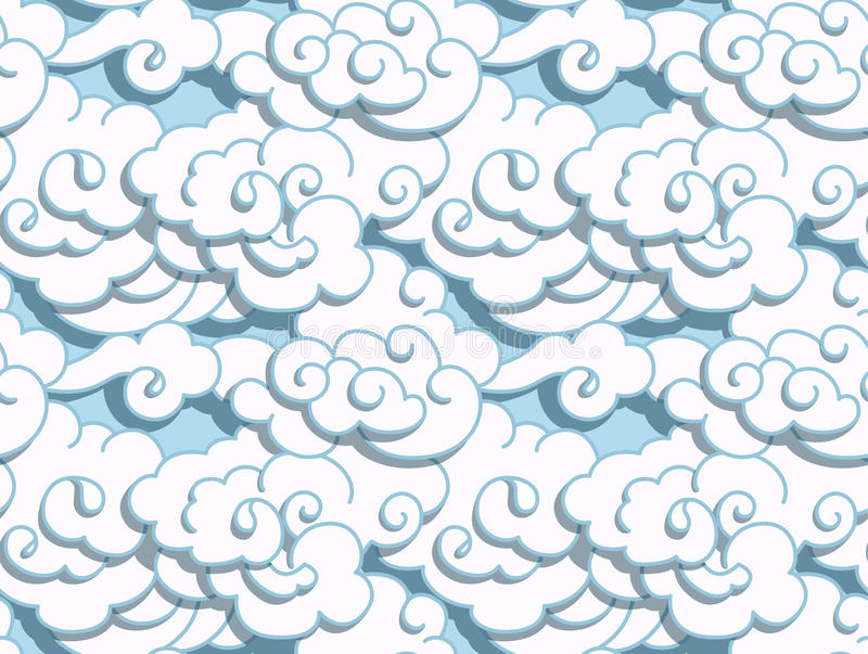 Chinese clouds vector illustration
