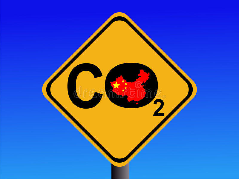 Download Chinese CO2 emissions sign stock vector. Image of global - 3996141