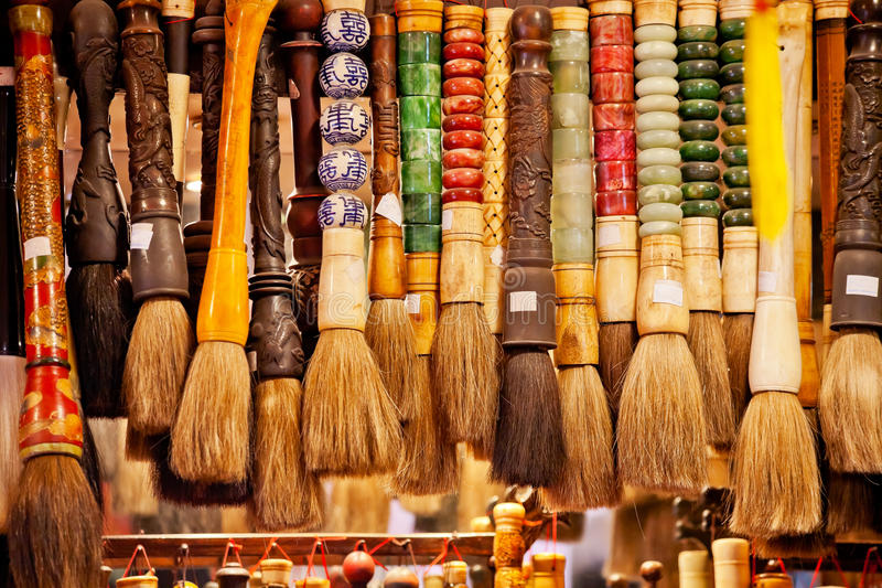 Chinese Colorful Souvenir Ink Brushes Beijing. China royalty free stock photo