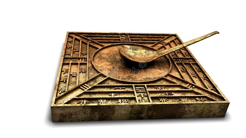 Chinese compass. This is a Chinese compass. It's one of the four great inventions of ancient China royalty free stock photos