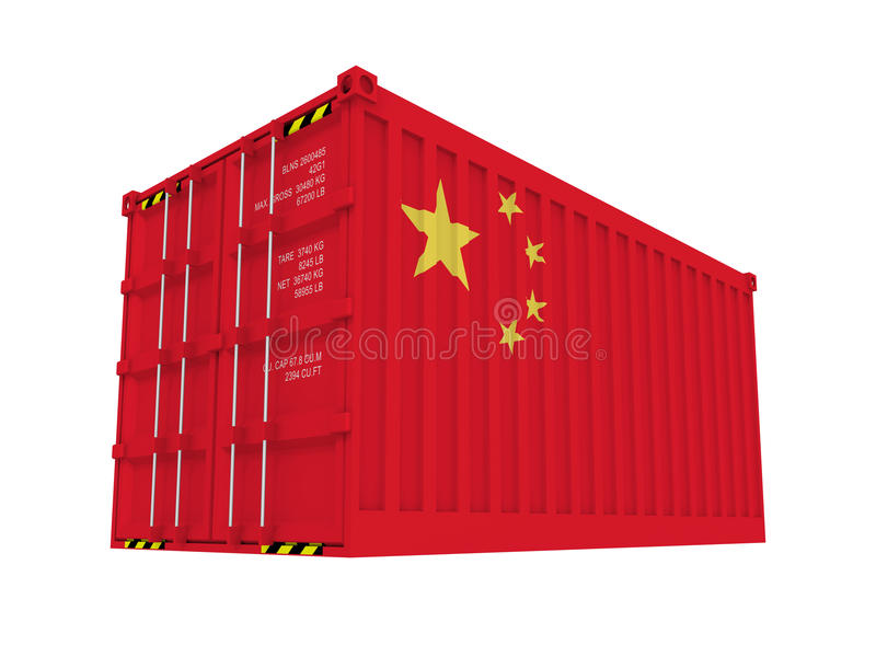 Chinese container vector illustration