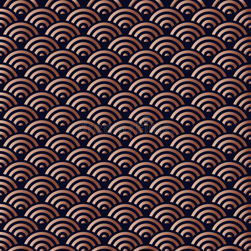 Chinese copper seamless pattern background royalty free illustration