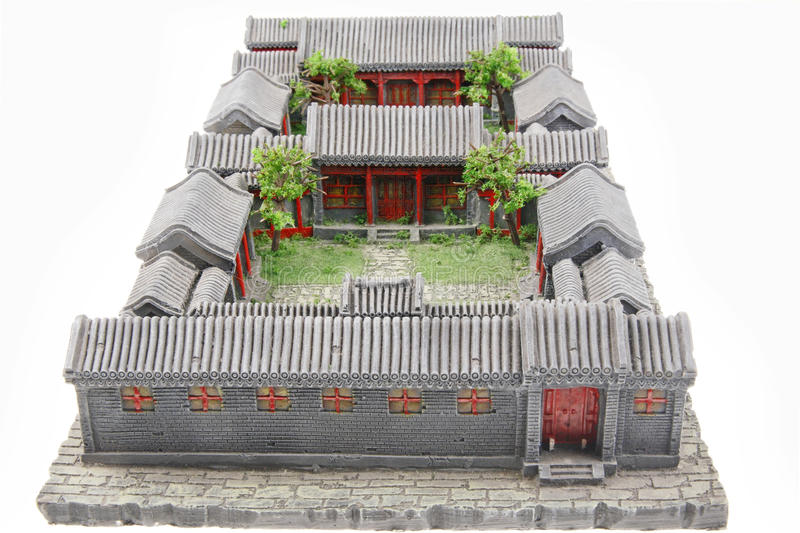 Chinese courtyard model royalty free stock images