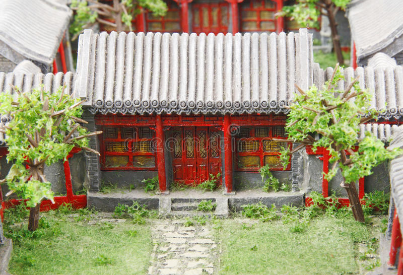Chinese courtyard model stock images