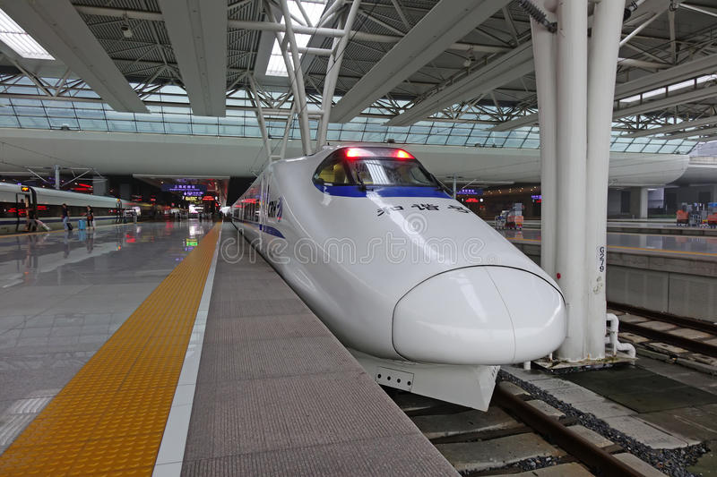 Chinese CRH fast train stock photography