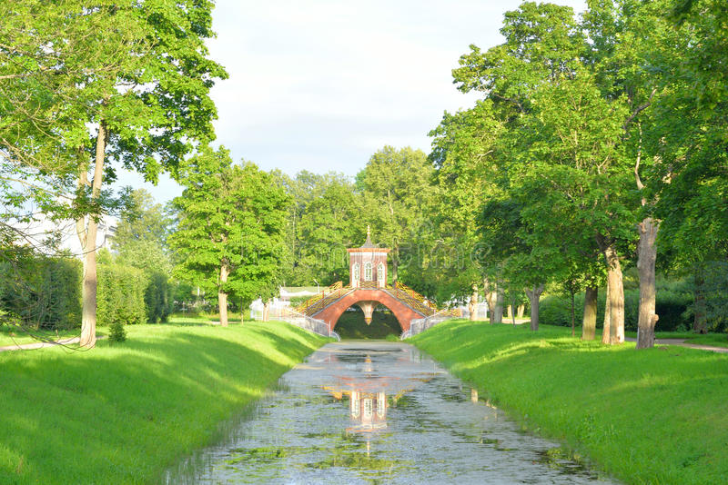 Download Chinese Cross Bridge And Canal In Alexander Park. Stock Photo    Image Of History