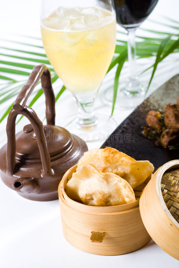 Chinese cuisine and tea royalty free stock images