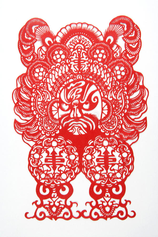 Download Chinese cut paper stock illustration. Image of symbol - 15388119