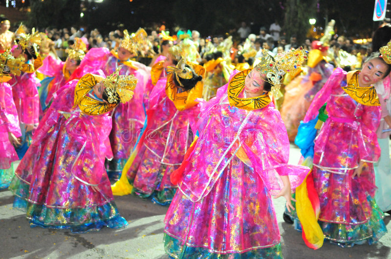 Chinese Dansers stock afbeelding