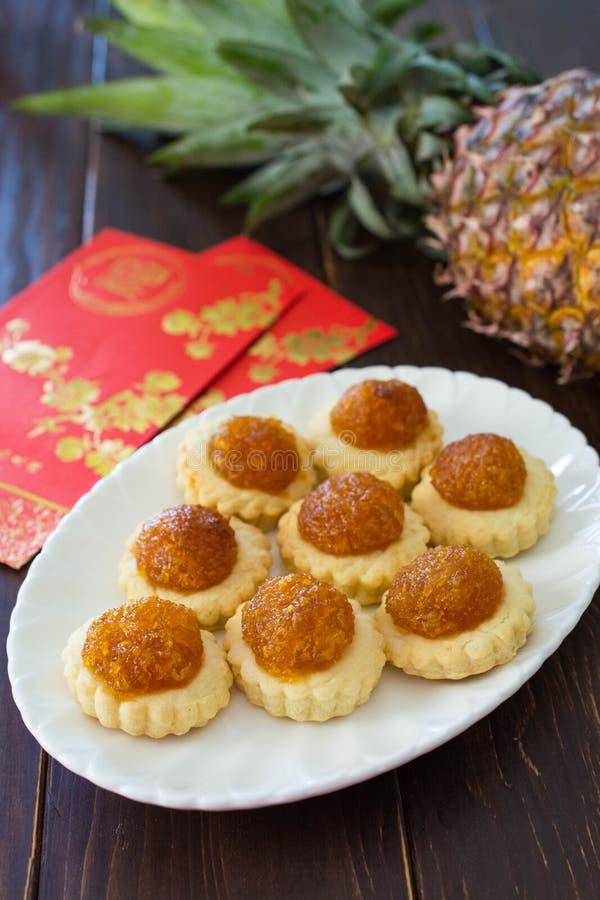 Chinese de Jamtaartjes van de Nieuwjaarananas royalty-vrije stock afbeelding